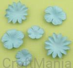 papierowe kwiatki jeansowe