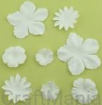 papierowe kwiatki białe
