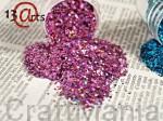 brokat hologramowy drobny fioletowy