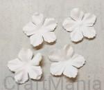 papierowe kwiatki białe duże