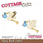 wykrojnik bociany - flying stork - cc4x4-498 Cottagecutz
