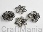 metalowe kwiaty stare srebro