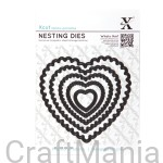 wykrojniki nesting dies - scalloped heart X-cut