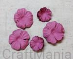 papierowe kwiatki ciemny róż - zestaw mały