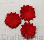 papierowe kwiatki czerwone - zestaw mały