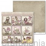papier do scrapbookingu Vintage Baby Girl 01
