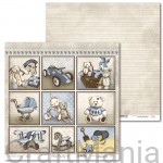papier do scrapbookingu Vintage Baby Boy 01