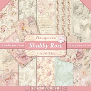 Shabby rose - bloczek
