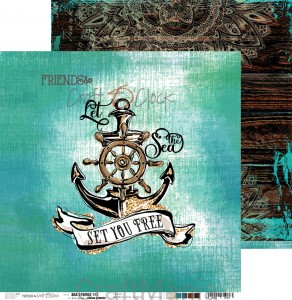 papier do scrapbookingu Sea Stories 02