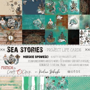 Sea Stories zestaw kart do project life
