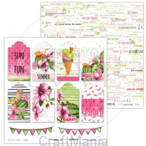 papier do scrapbookingu Watermelon Summer 06