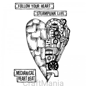stempel kauczukowy MECHANICAL HEART TKAT04