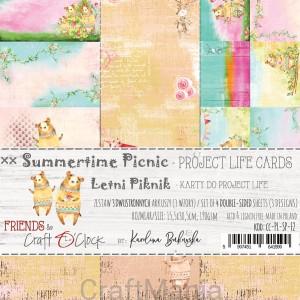 Summertime Picnic zestaw kart do project life