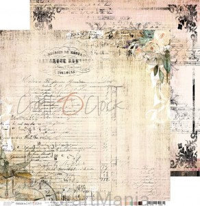 papier do scrapbookingu Vintage Bisou 05
