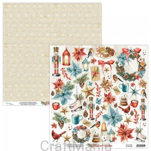 papier do scrapbookingu Home for Christmas 09
