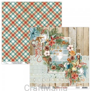 papier do scrapbookingu Home for Christmas 01