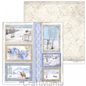 papier do scrapbookingu Winter Tales 08