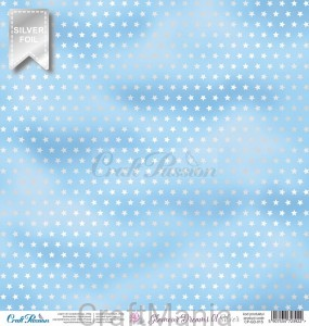 papier do scrapbookingu Glamour Dreams silver 01