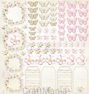 papier do scrapbookingu Romantic day elementy do wycinania