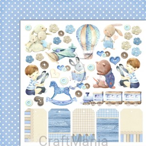Papier do scrapbookingu Boy's Little World 04