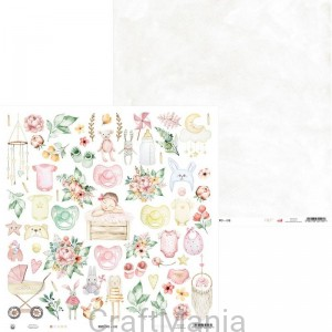 papier do scrapbookingu Baby Joy 07a