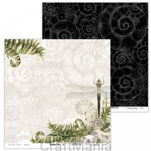 papier do scrapbookingu Prehistoric Fern 01