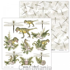 papier do scrapbookingu Prehistoric Fern 04