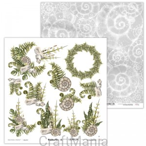 papier do scrapbookingu Prehistoric Fern 08