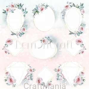 papier do scrapbookingu Blush 03