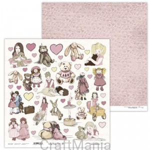 papier do scrapbookingu Vintage Baby Girl 07