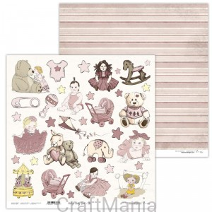 papier do scrapbookingu Vintage Baby Girl 10
