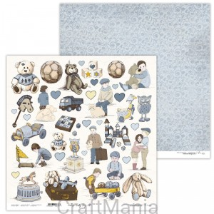 papier do scrapbookingu Vintage Baby Boy 07