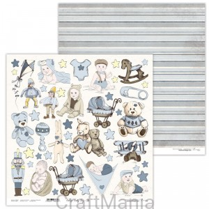 papier do scrapbookingu Vintage Baby Boy 10