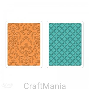 foldery do embossingu TEXTURED IMPRESSIONS - CHATEAU DAMASK & VERANDA