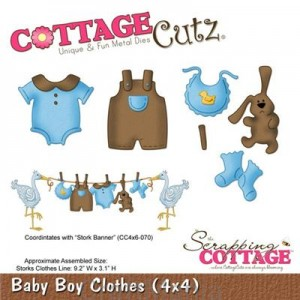 wykrojnik baby boy clothes- cc4x4-492 Cottagecutz